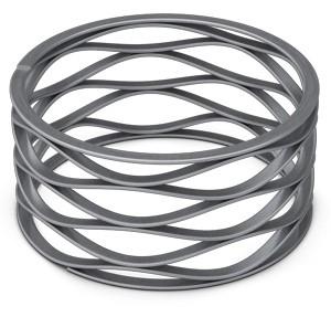 CMS - Metrische golfring met vlakke ring